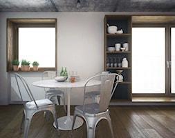 apartment_w&wo - Średnia beżowa jadalnia, styl industrialny - zdjęcie od PLLU Design - Łukasz Pluta