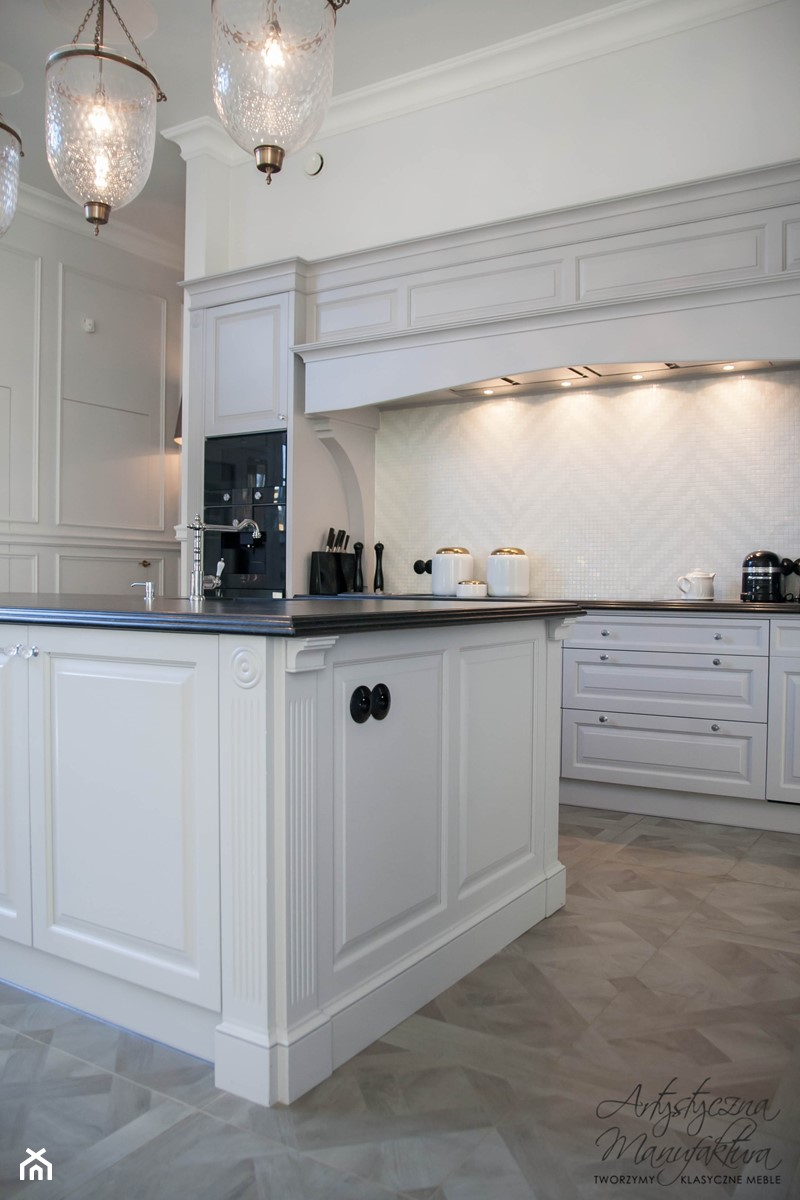 kuchnia z wyspą otwarta na salon  zdjęcie od Artystyczna   -> Meble Kuchnia Salon
