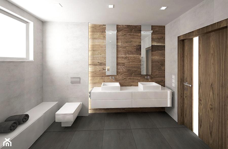 łazienka W Drewnie I Betonie Zdjęcie Od Kry Homebook