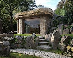 Salon ogrodowy w kamieniu. Ogród rezydencjonalny - zdjęcie od TwojeMiejsce - Homebook