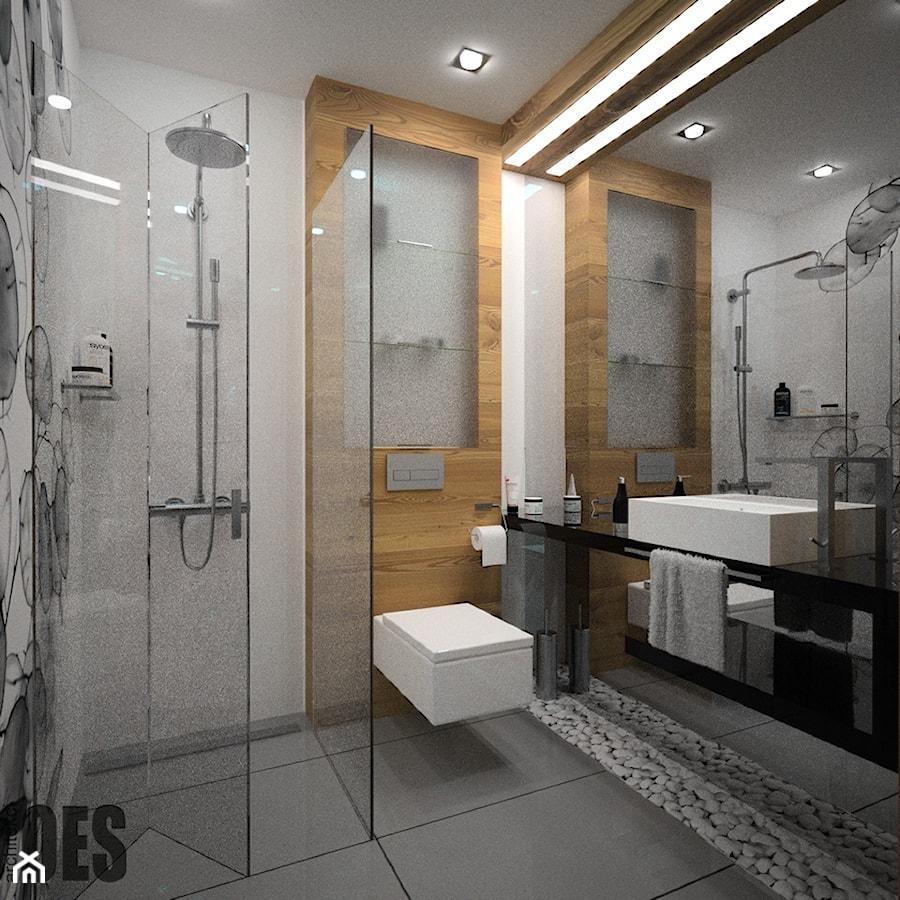 Drewniana Zabudowa W łazience łazienka Styl Nowoczesny