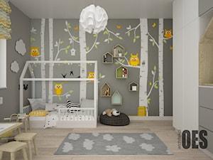 Szaro żółty pokój dla dziecka