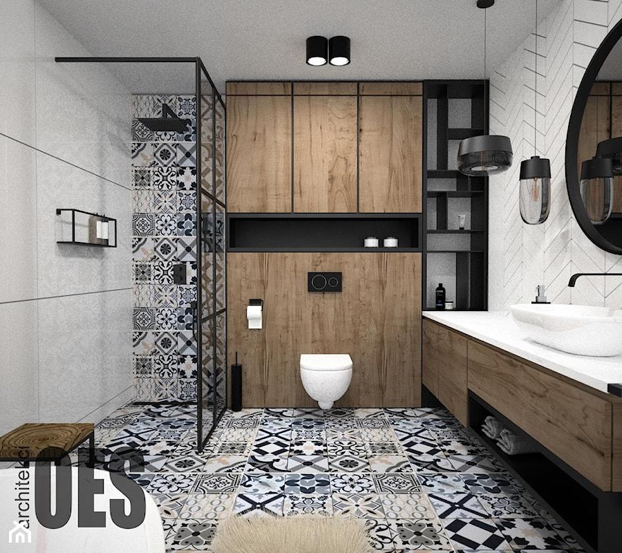 Drewno w łazience - Łazienka, styl minimalistyczny - zdjęcie od OES architekci