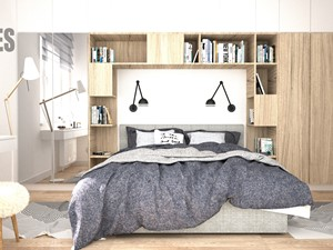 Sypialnia z miejscem na książki
