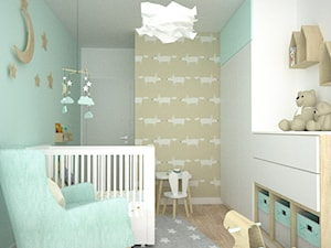 Pokój dla dziecka z kolorem miętowym
