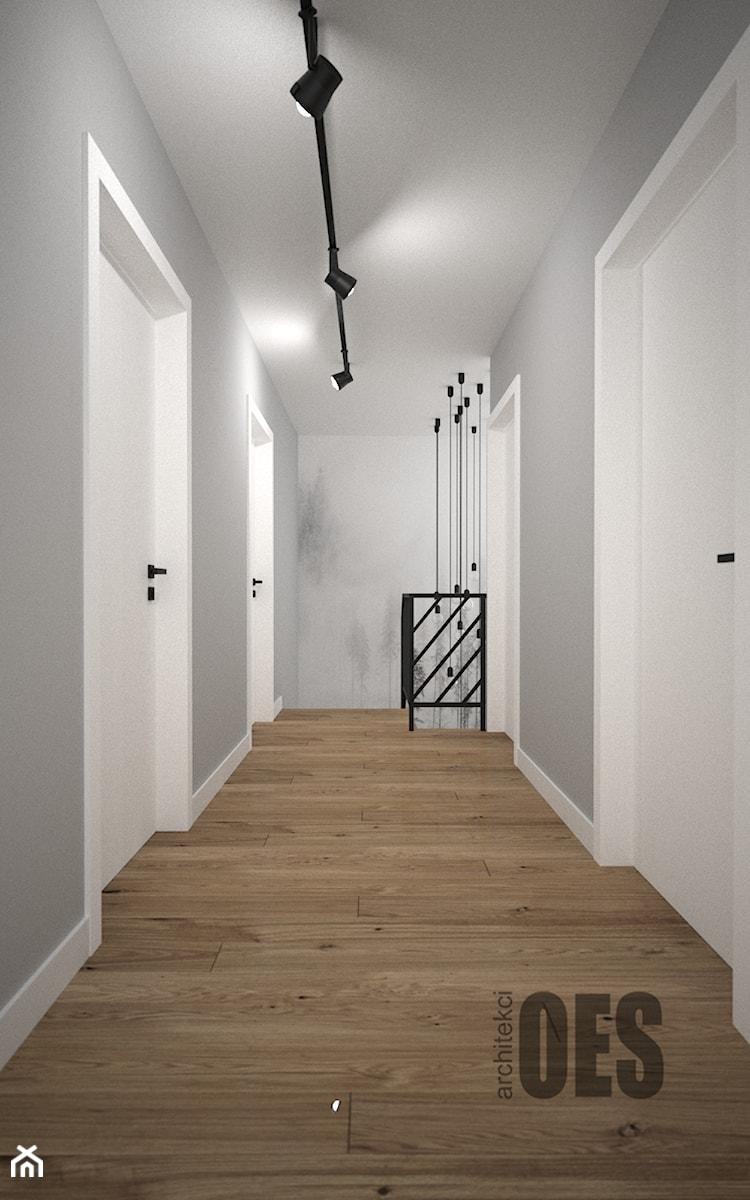 Biało szary przedpokój - Średni biały szary hol / przedpokój, styl skandynawski - zdjęcie od OES architekci