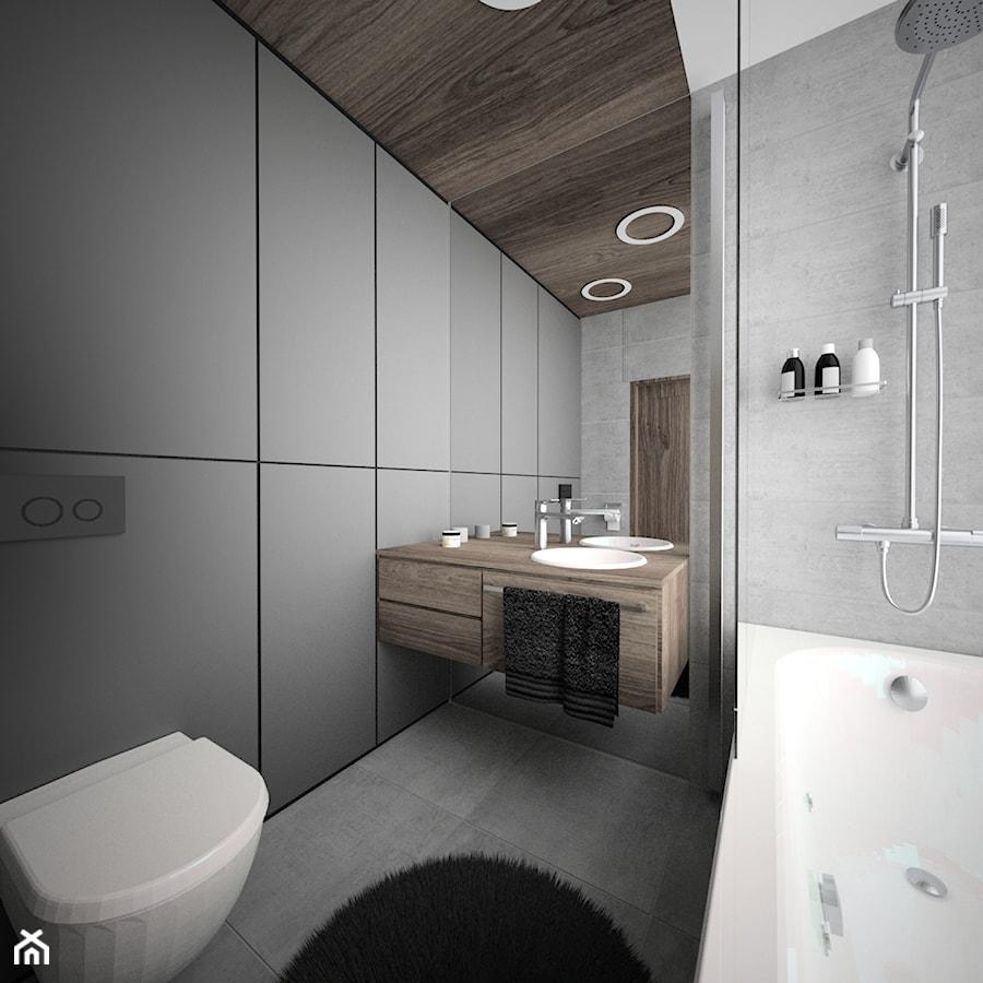 Mała Szara łazienka Zdjęcie Od Oes Architekci Homebook