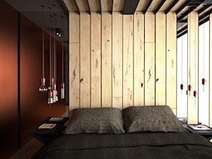 Miedź i drewno w sypialni