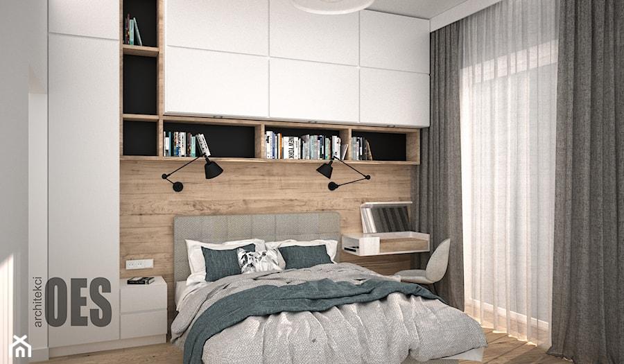 Przytulna sypialnia - zdjęcie od OES architekci