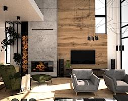 Salon loft - Salon, styl industrialny - zdjęcie od OES architekci - Homebook