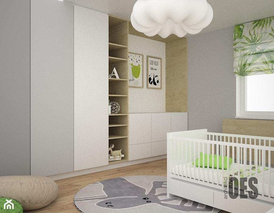 Aranżacje wnętrz - Pokój dziecka: Zieleń w pokoju dziecka - Średni szary pokój dziecka dla chłopca dla niemowlaka, styl nowoczesny - OES architekci. Przeglądaj, dodawaj i zapisuj najlepsze zdjęcia, pomysły i inspiracje designerskie. W bazie mamy już prawie milion fotografii!
