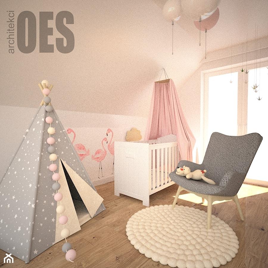 6579d26e18c6c2 Aranżacje wnętrz - Pokój dziecka: Pudrowy róż w pokoju dziewczynki - Średni  różowy pokój dziecka