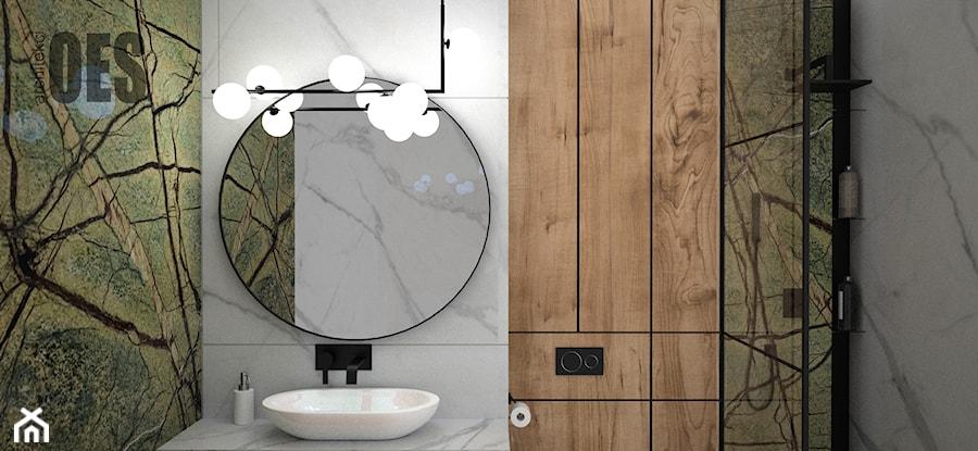 Łazienka rainforest green - Łazienka, styl nowoczesny - zdjęcie od OES architekci