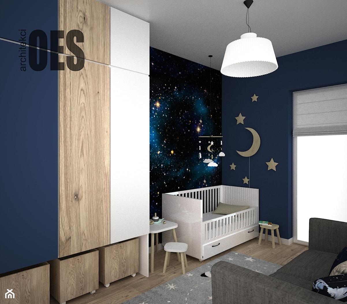 Pokój dziecka - tapeta gwiazdy - Pokój dziecka, styl nowoczesny - zdjęcie od OES architekci - Homebook