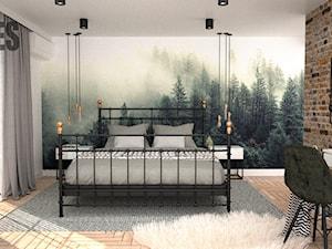 Tapeta las w sypialni