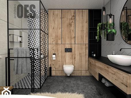 Aranżacje wnętrz - Łazienka: Drewno w łazience - Łazienka, styl minimalistyczny - OES architekci. Przeglądaj, dodawaj i zapisuj najlepsze zdjęcia, pomysły i inspiracje designerskie. W bazie mamy już prawie milion fotografii!