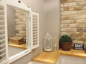 Mieszkanie hand made :) - Mała beżowa szara łazienka, styl tradycyjny - zdjęcie od karolina0606