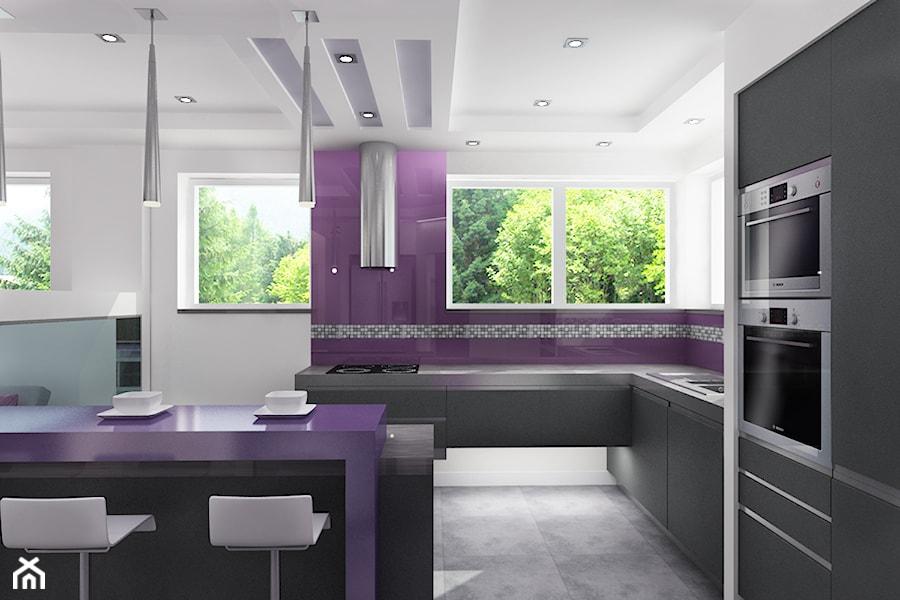 Dom fiolety projekt  Kuchnia, styl nowoczesny  zdjęcie od All Design Agnies