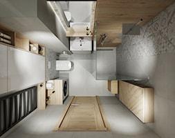 Mieszkanie 50 m2 Kraków - Średnia biała szara łazienka bez okna, styl skandynawski - zdjęcie od All Design Agnieszka Lorenc
