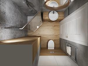 Mała łazienka 1 - Mała biała szara łazienka w bloku bez okna, styl tradycyjny - zdjęcie od All Design Agnieszka Lorenc