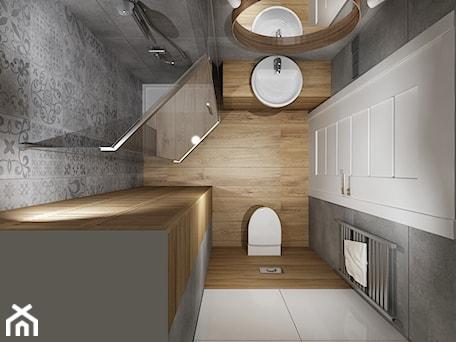 Aranżacje wnętrz - Łazienka: Mała łazienka 1 - Mała biała szara łazienka w bloku bez okna, styl tradycyjny - All Design Agnieszka Lorenc . Przeglądaj, dodawaj i zapisuj najlepsze zdjęcia, pomysły i inspiracje designerskie. W bazie mamy już prawie milion fotografii!