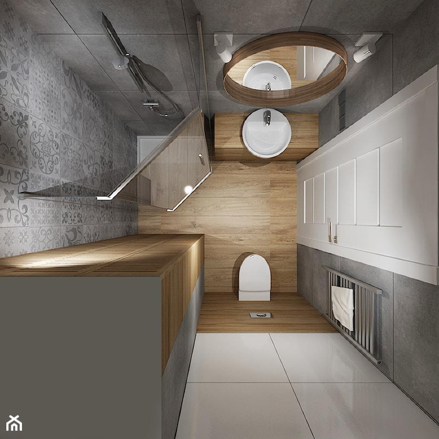 Mała łazienka 1 Mała Biała Szara łazienka W Bloku Bez Okna