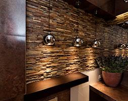 MAŁA ŁAZIENKA Z KAMIENIEM - Średnia łazienka w domu jednorodzinnym bez okna, styl klasyczny - zdjęcie od All Design Agnieszka Lorenc