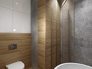 Mała łazienka 1 - Średnia szara łazienka na poddaszu w bloku w domu jednorodzinnym, styl klasyczny - zdjęcie od All Design Agnieszka Lorenc