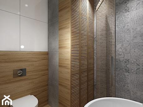 Aranżacje wnętrz - Łazienka: Mała łazienka 1 - Średnia szara łazienka na poddaszu w bloku w domu jednorodzinnym, styl klasyczny - All Design Agnieszka Lorenc . Przeglądaj, dodawaj i zapisuj najlepsze zdjęcia, pomysły i inspiracje designerskie. W bazie mamy już prawie milion fotografii!