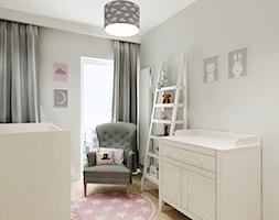 Mieszkanie w Bydgoszczy - Mały szary pokój dziecka dla chłopca dla dziewczynki dla niemowlaka, styl nowoczesny - zdjęcie od All Design Agnieszka Lorenc