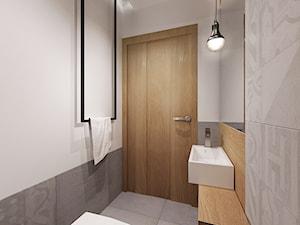 łazienka w szarosciach - Mała biała szara łazienka, styl minimalistyczny - zdjęcie od All Design Agnieszka Lorenc
