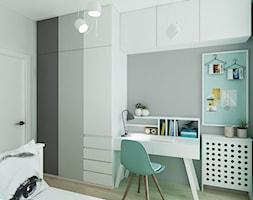 Mieszkanie w Bydgoszczy - Mały szary pokój dziecka dla chłopca dla ucznia dla nastolatka, styl skandynawski - zdjęcie od All Design Agnieszka Lorenc