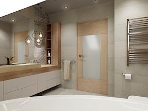Łazienka ze skosami - Średnia łazienka na poddaszu, styl nowoczesny - zdjęcie od All Design Agnieszka Lorenc