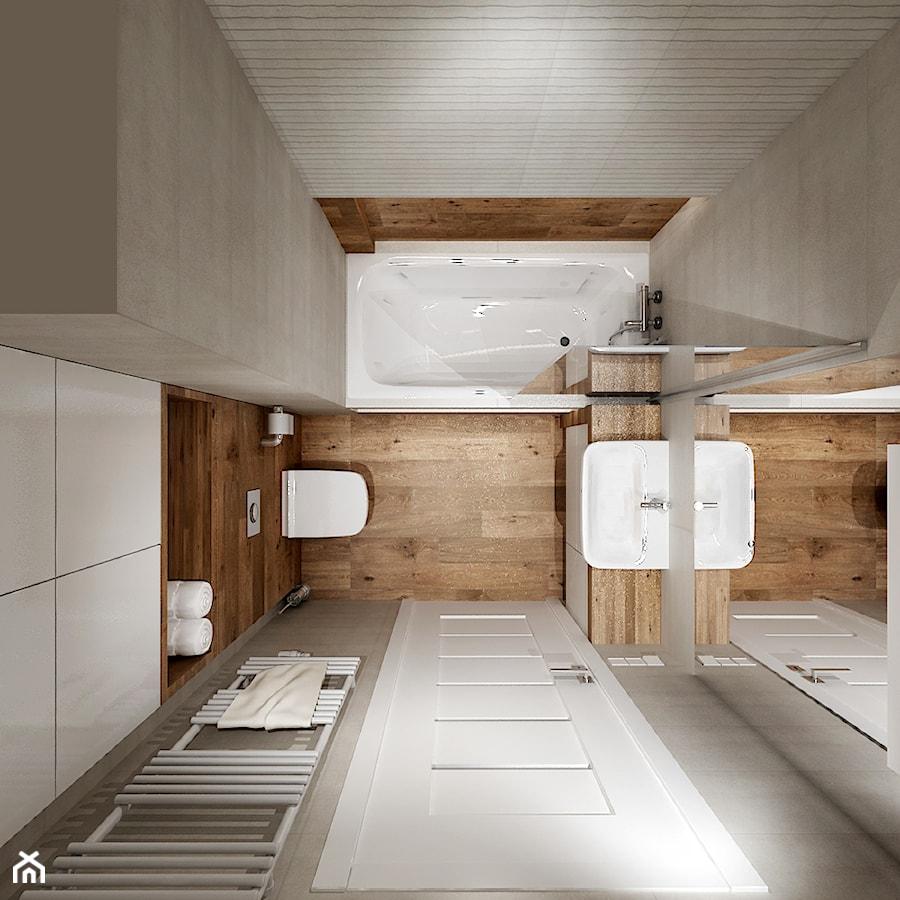 Mieszkanie w bieli i cegłą w tle - Łazienka, styl nowoczesny - zdjęcie od All Design Agnieszka Lorenc