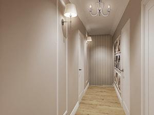 Projekt - Klasyczny dom pod Krakowem - Średni beżowy hol / przedpokój, styl klasyczny - zdjęcie od All Design Agnieszka Lorenc
