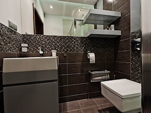 łazienka w szarościach realizacja