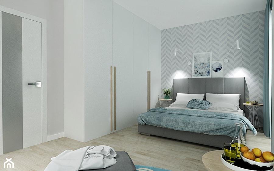 Sypialnia - Średnia szara sypialnia małżeńska, styl skandynawski - zdjęcie od All Design Agnieszka Lorenc