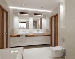 łazienka w bieli - Średnia biała łazienka w domu jednorodzinnym, styl nowoczesny - zdjęcie od All Design Agnieszka Lorenc