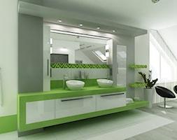 sypialnia z łazienka w zieleni - Łazienka, styl nowoczesny - zdjęcie od All Design Agnieszka Lorenc