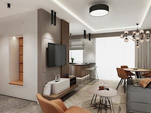 Mieszkanie z kolorem koniaku