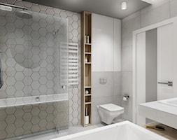 Łazienka dom pod Poznaniem - Średnia biała szara łazienka bez okna, styl skandynawski - zdjęcie od All Design Agnieszka Lorenc