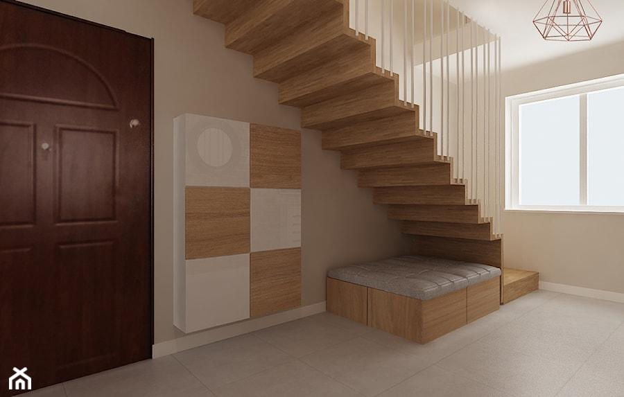 Mieszkanie w bieli i cegłą w tle - Schody, styl nowoczesny - zdjęcie od All Design Agnieszka Lorenc