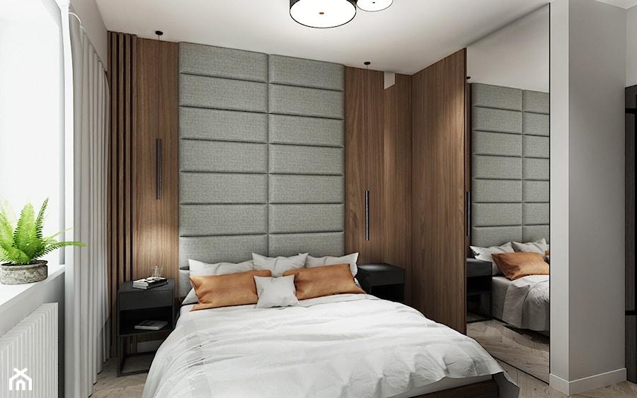 Mieszkanie z kolorem koniaku - Średnia szara sypialnia małżeńska, styl tradycyjny - zdjęcie od All Design Agnieszka Lorenc