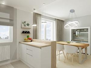 Mieszkanie w pastelach - Średnia otwarta szara jadalnia jako osobne pomieszczenie, styl skandynawski - zdjęcie od All Design Agnieszka Lorenc