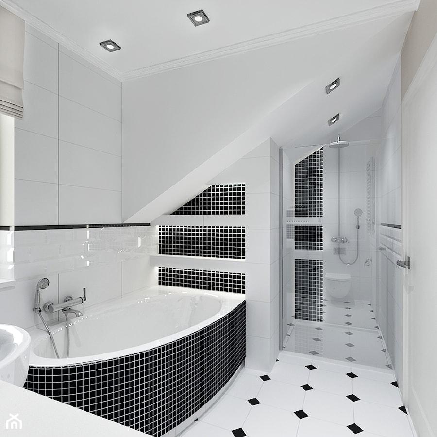 Projekt Klasyczny Dom Pod Krakowem Mała łazienka Na