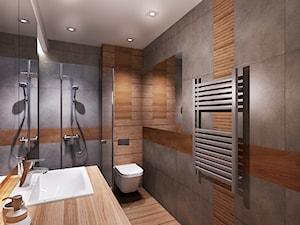 Mieszkanie na wynajem 1 - Średnia brązowa szara łazienka w bloku bez okna, styl nowoczesny - zdjęcie od All Design Agnieszka Lorenc