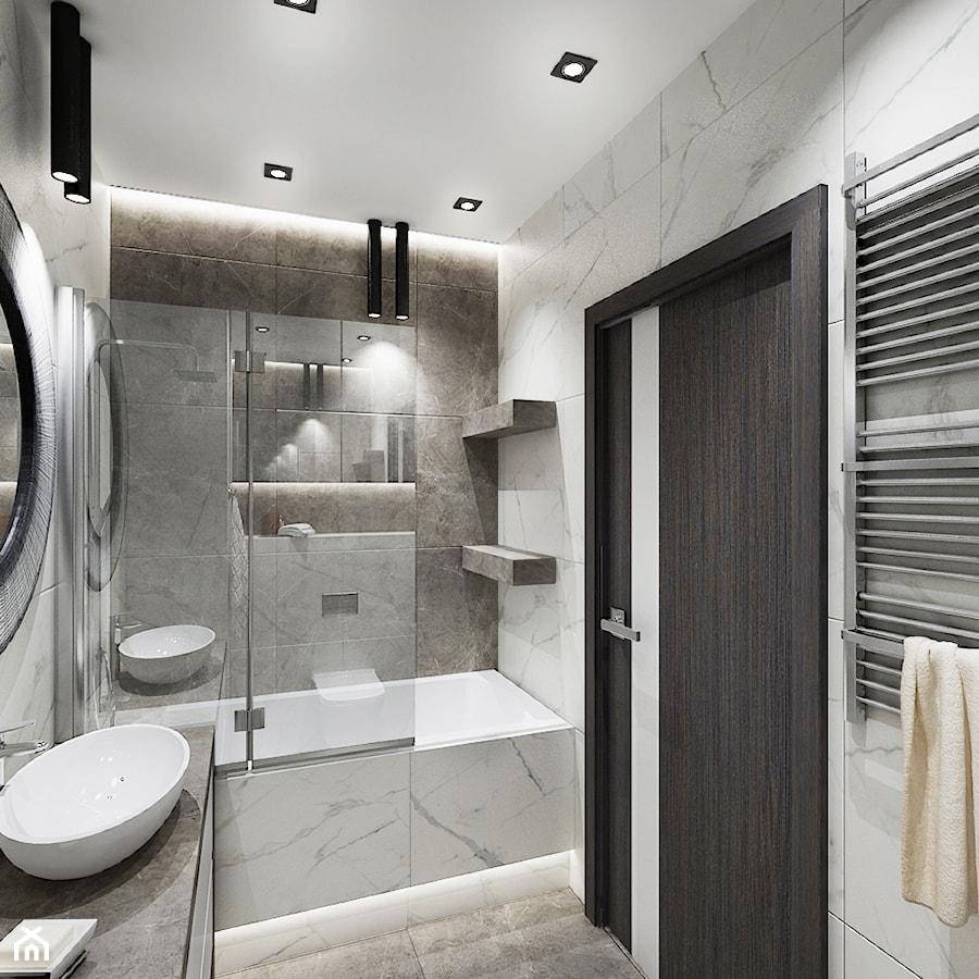 Mieszkanie z kolorem koniaku - Średnia łazienka w bloku w domu jednorodzinnym bez okna, styl klasyczny - zdjęcie od All Design Agnieszka Lorenc