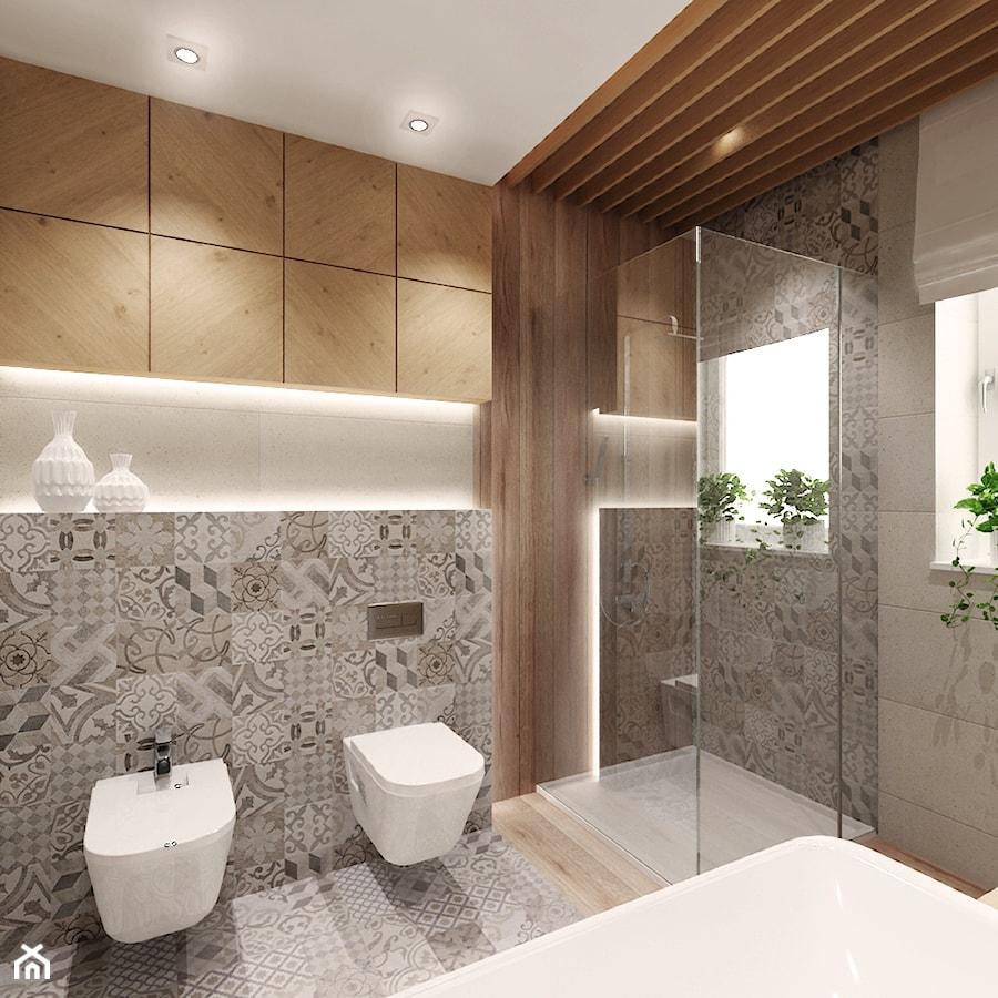 Projekt łazienki Z Drewnem średnia łazienka W Bloku W Domu