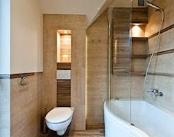 Łazienka w brązach realizacja - Mała beżowa łazienka, styl nowoczesny - zdjęcie od All Design Agnieszka Lorenc
