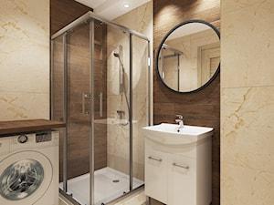 Mieszkanie Kraków - Mała beżowa brązowa łazienka w bloku w domu jednorodzinnym bez okna, styl tradycyjny - zdjęcie od All Design Agnieszka Lorenc